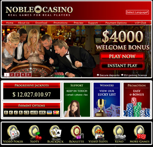 Noble Casino - Best operator for Playtech Blackjack