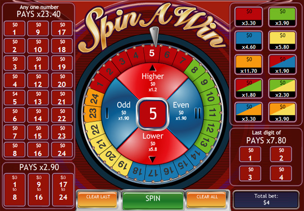 Playtech Spin A Win - A new game to enjoy