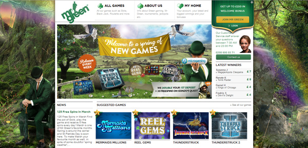 New: Play Microgaming games at MrGreen Casino