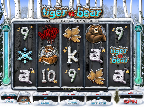 New video slot Tiger vs Bear Siberian Standoff