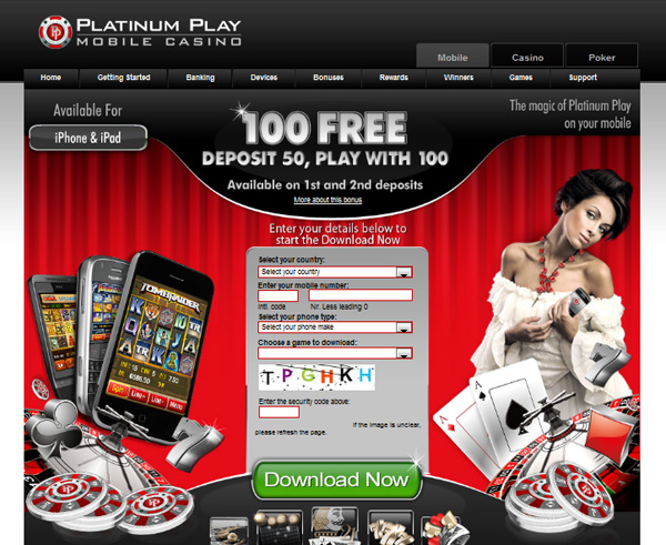 Platinum Play Mobile Casino