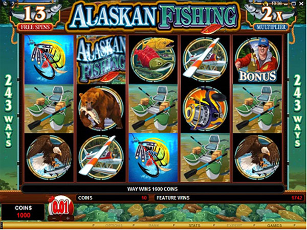 Fishing themed slot games