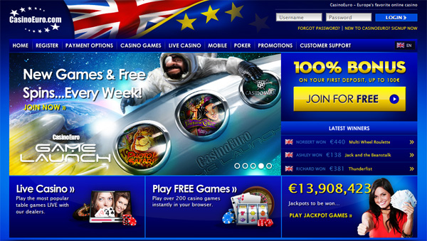 CasinoEuro - New Games