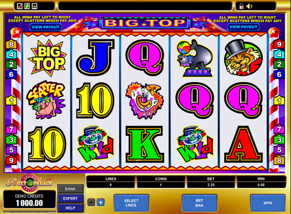 Slot Games With A Circus Theme