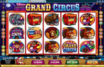 Online slots based on circus themes