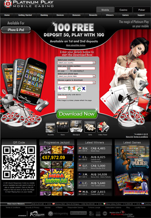Mobile Casinos like Platinum Play