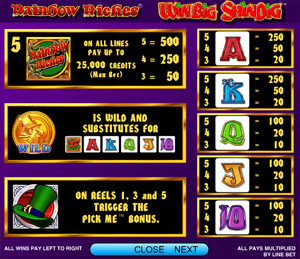 Rainbow Riches - The Win Big Shindig slots - from IGT